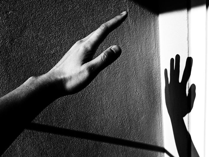 Silhouette Close-up Day Human Body Part Human Finger Human Hand Indoors  One Person People Real People Shadow