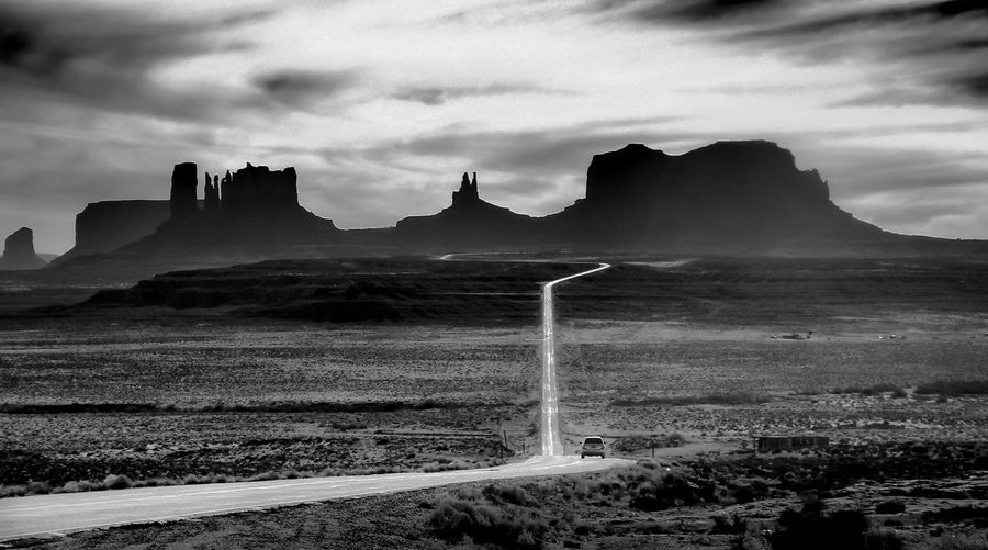 Monument Valley as seen from Mile Marker 13 Black And White Blackandwhite Forest Gump Iconic Mile Marker 13 Monument Valley USA Utah Landscapes The Great Outdoors With Adobe The Great Outdoors - 2016 EyeEm Awards The Great Outdoors With Adobe Welcome To Black The Great Outdoors - 2017 EyeEm Awards