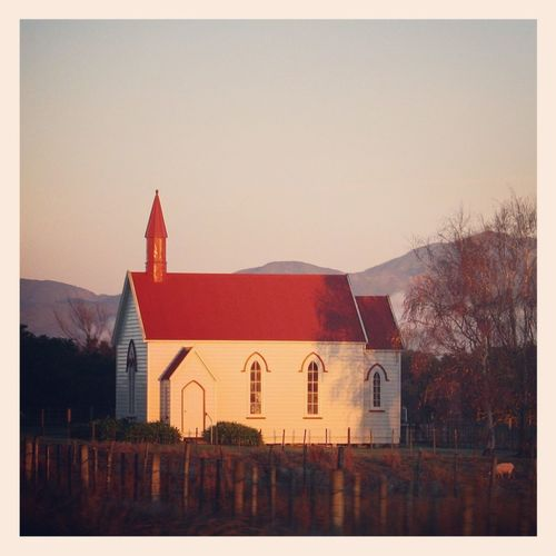 Rural Religion Church Red Rural Scenes New Zealand