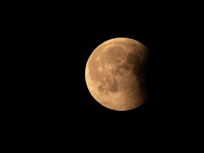 'Some things just can't be described. And stepping onto the moon was one of them.' (Buzz Aldrin) Nikon EyeEm Masterclass EyeEm Nature Lover Bloodmoon Moon Night Astronomy Space Sky Planetary Moon Moon Surface Beauty In Nature No People Tranquility Scenics - Nature Nature Tranquil Scene