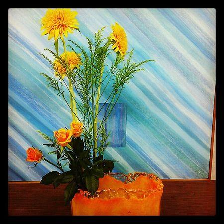 生け花 花 華道 フラワーアレンジメント flowerarrangement fleurs flowers flower ikebana flowerstagram flowersofinstagram flowermagic 同系色で生ける