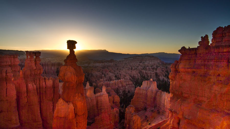 Scenic View Of Thors Hammer At Bryce Canyon National Park