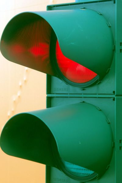 Ample Close-up Day Green Color No People Red Red Light Security Still Life Traffic Light