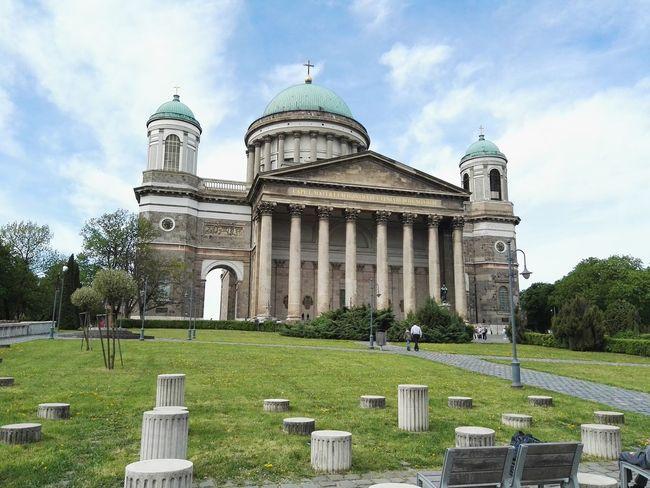 Church Clouds Streetphotography Esztergom Bazilika