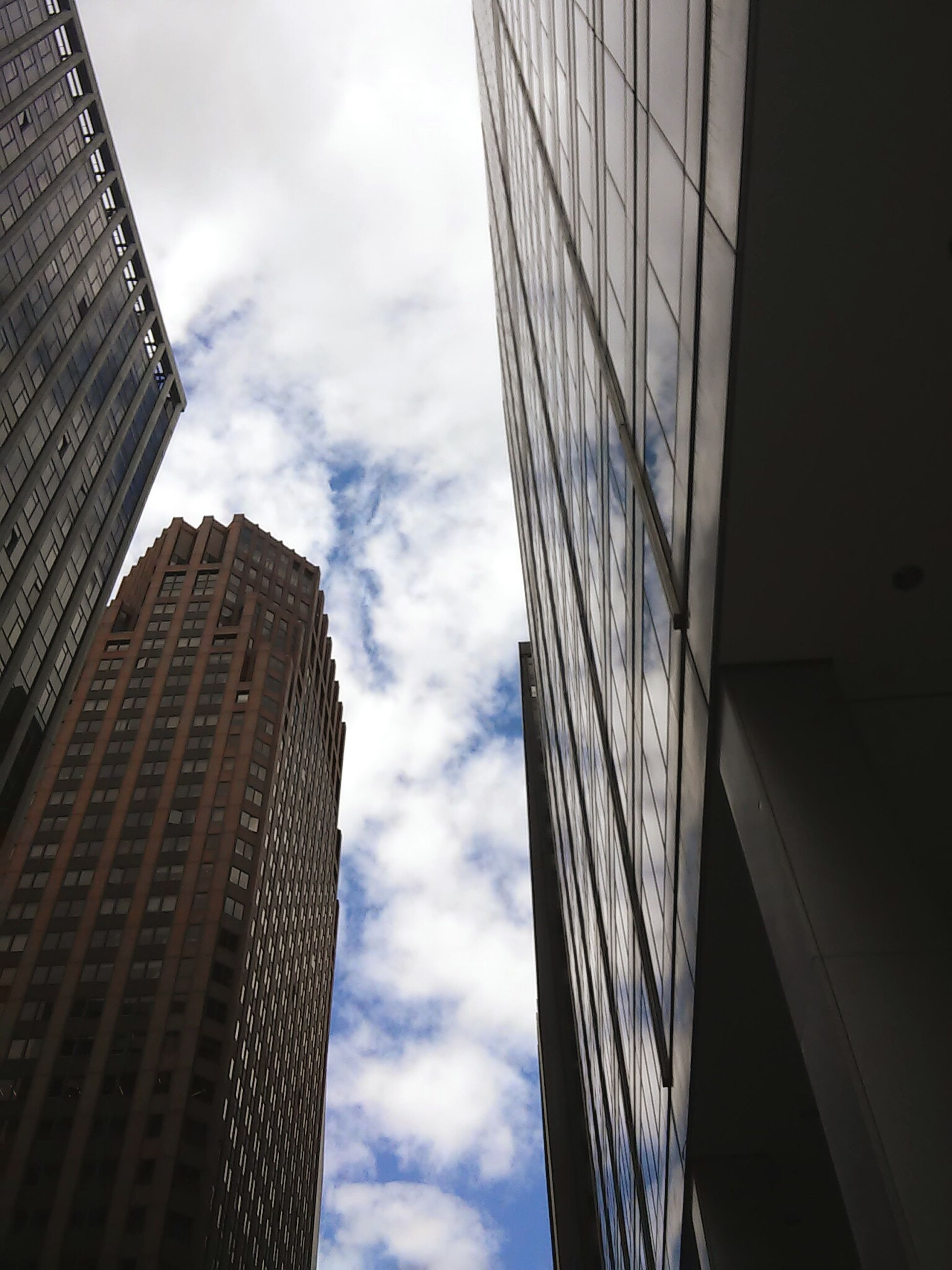 sky, architecture, skyscraper, modern, low angle view, tall, building exterior, cloud - sky, no people, built structure, growth, day, outdoors, city