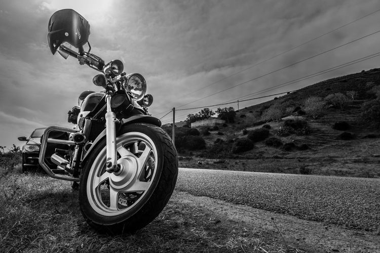 The dark rider Adventure Biker Black Black And White Blackandwhite Car Dark Day Light And Shadow LINE Motorbike Motorcycle Motorcycles Mountain Outdoors Parked Ride Road Shadow Sun Transportation Traveling Trip Wheel Wheels
