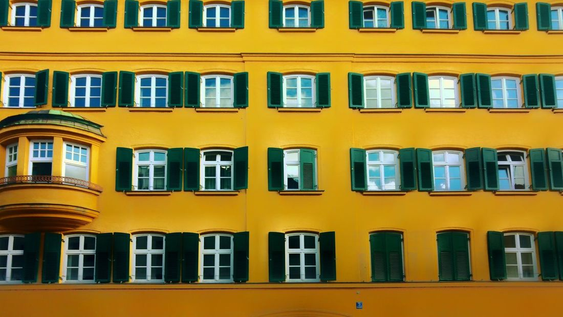 Window Yellow Architecture Building Exterior No People Built Structure City Close-up Outdoors Day Paint The Town Yellow Architecture Focus On Foreground Window Pattern Yellow Wall City Architecture