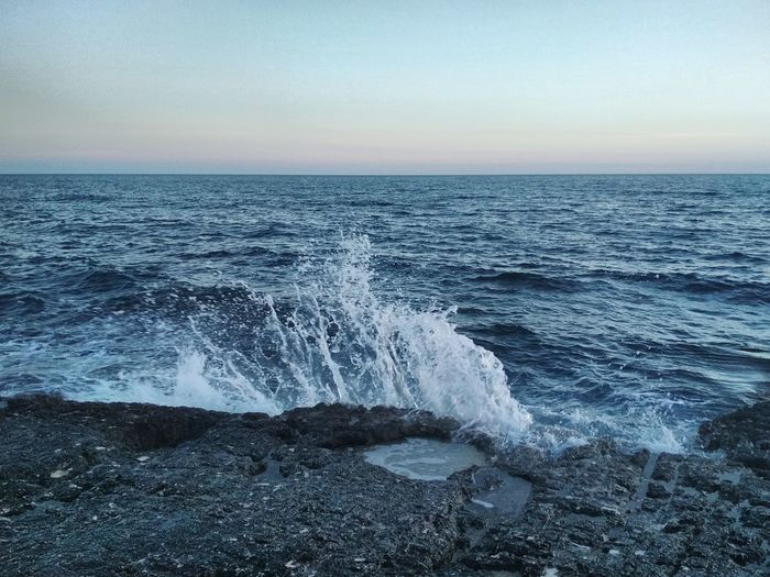 High waves in