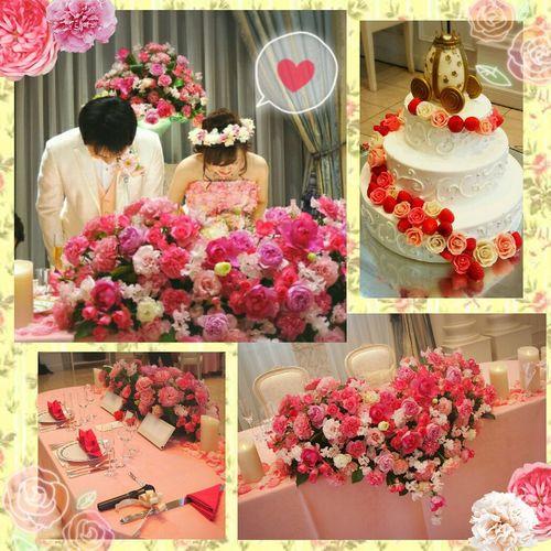Table Flower Celebration Mywedding Wedding Photography 日本 Japan Celebration Event やぴ Selfie ♥ Makeup ♥ Beauty Hairset Tiffany&Co. 結婚指輪 Itsme 結婚式 アニヴェルセル