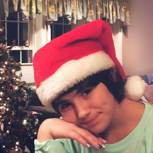 Always Be Cozy Portrait Santa Hat