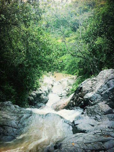 Charco Azul En El Río Agua