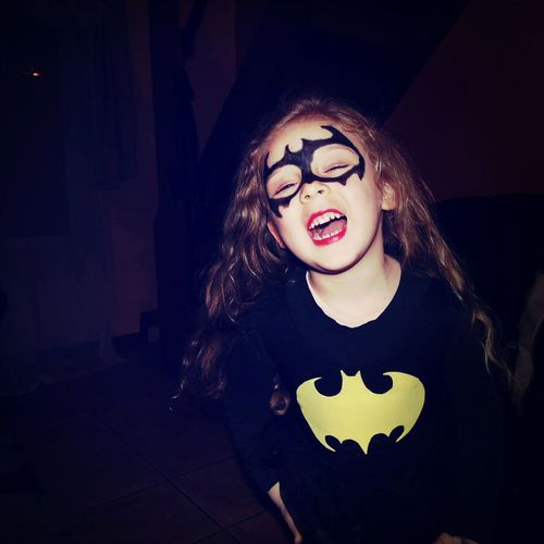 Halloween Batgirl Enjoying Life