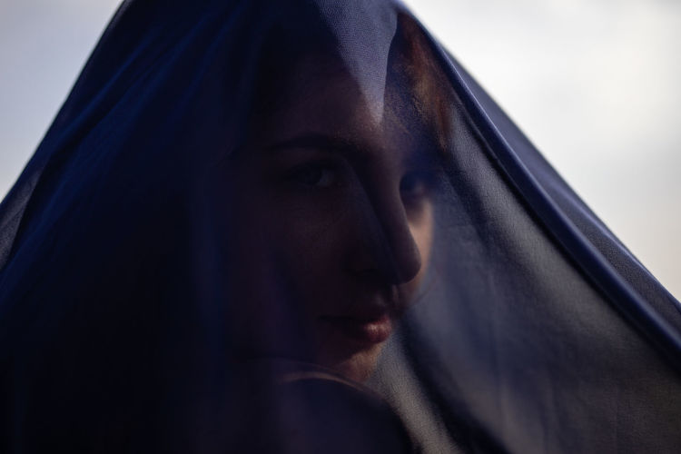 Adult Beautiful Woman Beauty Body Part Close-up Contemplation Emotion Hairstyle Headshot Hood - Clothing Human Face Indoors  Looking Looking Away One Person Portrait Sadness Serious Veil Women Young Adult Young Women #NotYourCliche Love Letter My Best Photo