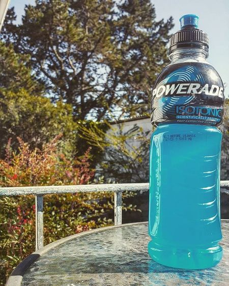 What a Beautiful day. Powerade Drink Thirsty  refreshing sunshine outisde outdoors trees
