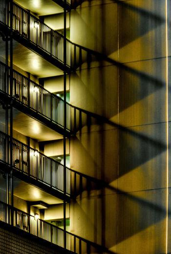 Exterior of illuminated building