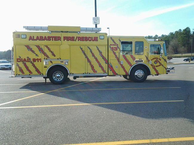 Yellow fire truck....