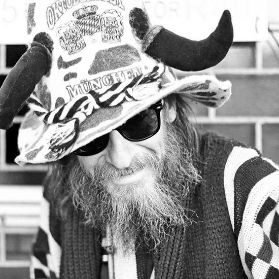 H.O.P.E - Humans of Port Elizabeth. A festival goer kitted out I his beer drinking hat. Oktoberfest Beer Festival Blackandwhite Highkey Photography Filmnoir
