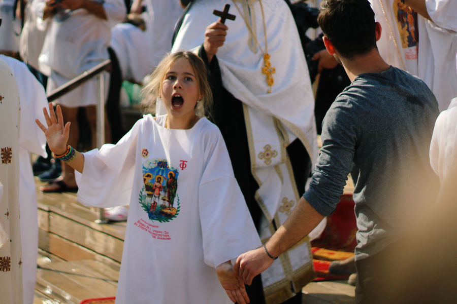 Epiphany Celebration Day Epiphany Halloween Human Body Part Human Hand Leisure Activity Mouth Open Outdoors Real People Standing The Photojournalist - 2017 EyeEm Awards Togetherness Young Adult מייקאסר מייקנון