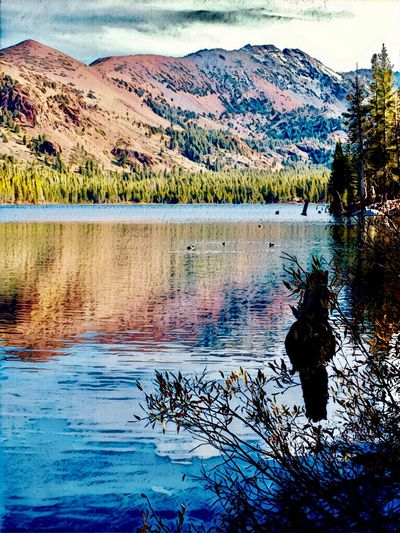 Eastern Sierras Mammoth Lakes, CA Lake Mary Water Reflection Beauty In Nature Lake Tranquility Scenics - Nature Tranquil Scene Mountain Idyllic