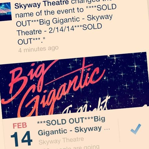 FuckFeb14 BigGigantic Skyway LoveDub CantWait
