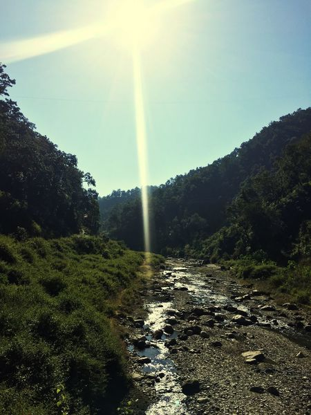 Sun Nature Sunbeam Sunlight Beauty In Nature Lens Flare Scenics Landscape Outdoors Day Water Sunrays Clean Water Beautiful (null)Mountain
