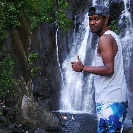Mahusband Enjoying Nature Enjoying Life Enjoying The View Enjoying The Sights Waterfall Trip Cyclops Sentanipapuaisland