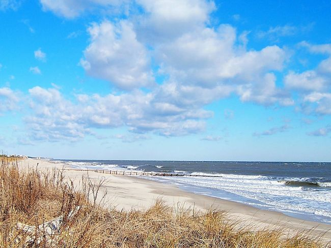 Rehoboth Beach Delaware Beach Atlantic Ocean Waves Blue Sky Clouds Sunny Day Coldfront Winter Relaxing Tranquil The Essence Of Summer Fine Art Photography Colour Of Life