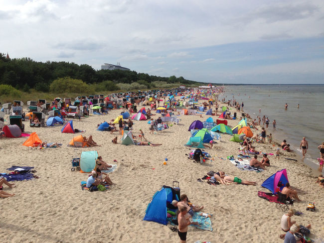 Baltic Sea Balticsea Beach Cloud - Sky Crowd Day Europe Large Group Of People Leisure Activity Lifestyles Men Nature Outdoors Person Real People Sand Sea Shore Sky Summer Vacations Water Zinnowitz