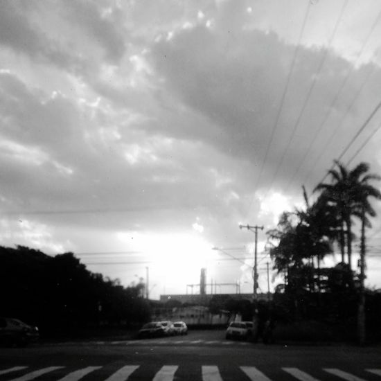 Por Do Sol Sao Paulo - Brazil P&B B&w Street Photography B&w Sunset