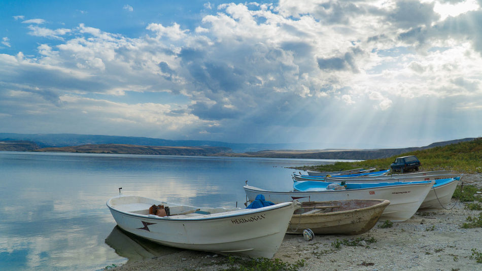Boat Ankara Beach Bestsellers Blue Boat Cloud - Sky Environment EyeEm Best Shots Göl Lake Landscape Nature Nautical Vessel Outdoors Sea Sky Sony A6000 Water EyeEmNewHere