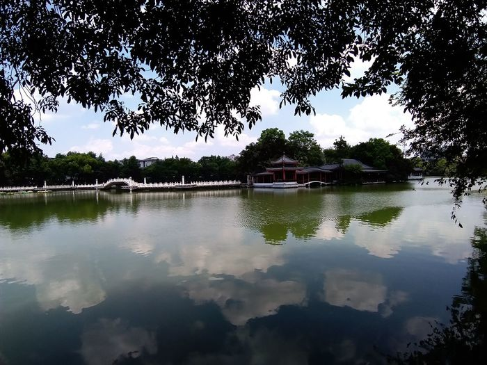 Guiling Bridge EyeEmNewHere Quilt Tranquility Tranquil Scene Tree Water Lake Reflection Sky Architecture Landscape Reflecting Pool Reflection Lake