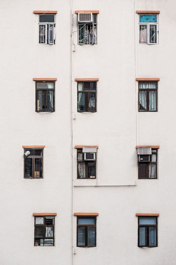 Apartment building exterior architecture in hong kong