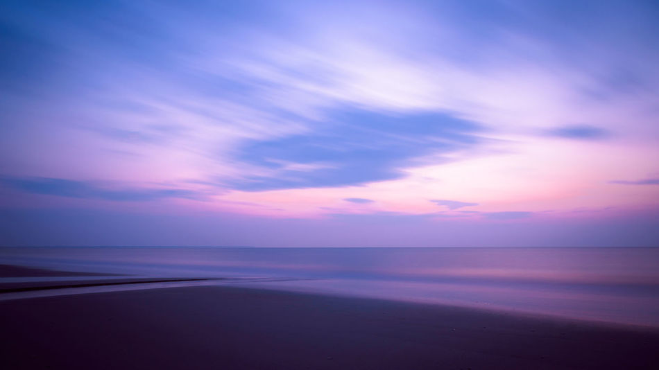 this long exposure I've taken on Langeoog Beach during the Blue Hour. Blue Hour Beach Beauty In Nature Horizon Over Water Long Exposure Nature No People Outdoors Reflection Scenics Sea Sky Sunset Tranquil Scene Tranquility Water