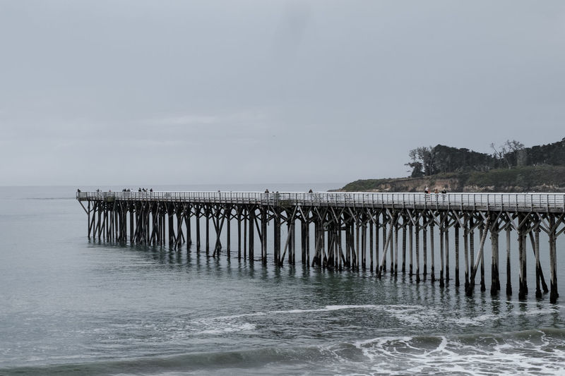 California Coast Cloudy Day Pier Beach Beauty In Nature Cloud - Sky Day Horizon Over Water Nature No People Ocean Outdoors Pacific Ocean Scenics Sea Sky Tranquil Scene Tranquility Water Waterfront