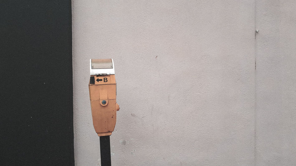 Pay Before You Park... Parking Parking Meter Be. Ready. One Step Forward Step It Up Wall White Wall Black Wall
