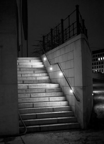 Staircase at night