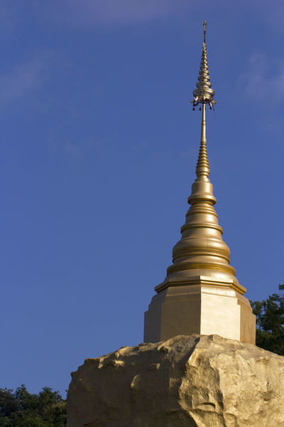 Blue Clear Sky Copy Space Creativity Culture Famous Place High Section History Low Angle View Pagoda Place Of Worship Religion Sky Spire  Spirituality Stupa Temple - Building Tourism Travel Destinations