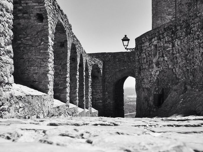 Historical Building Castle Black & White in Castellar De La Frontera Vanishing Point