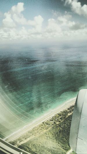 Turquoise By Motorola From An Airplane Window Ft Lauderdale