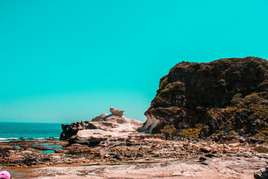 Rock formation, Ilocos, Philippines Rock - Object Sea Beach Nature Horizon Over Water Blue Beauty In Nature Travel Destinations Philippinesphotography Colors Of Nature Lifeofadventure Travelphotography Travel Adventure Philippines Ilocos Rock Formation Scenics Water Clear Sky Life Is Beautiful Vacation
