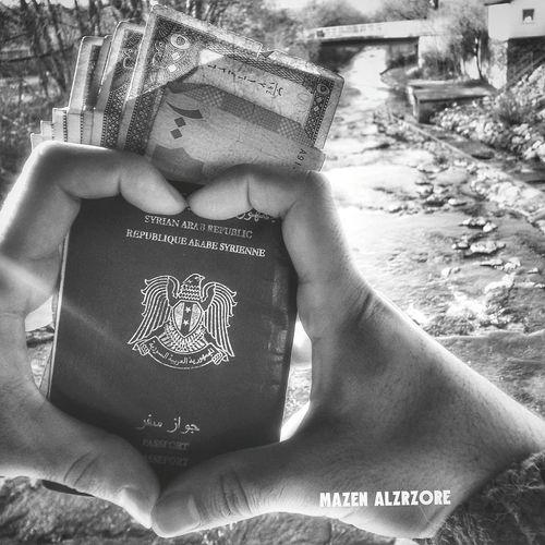 Pasports Love ♥ Syria  Save Syria  B&w Photo Göppingen Germany