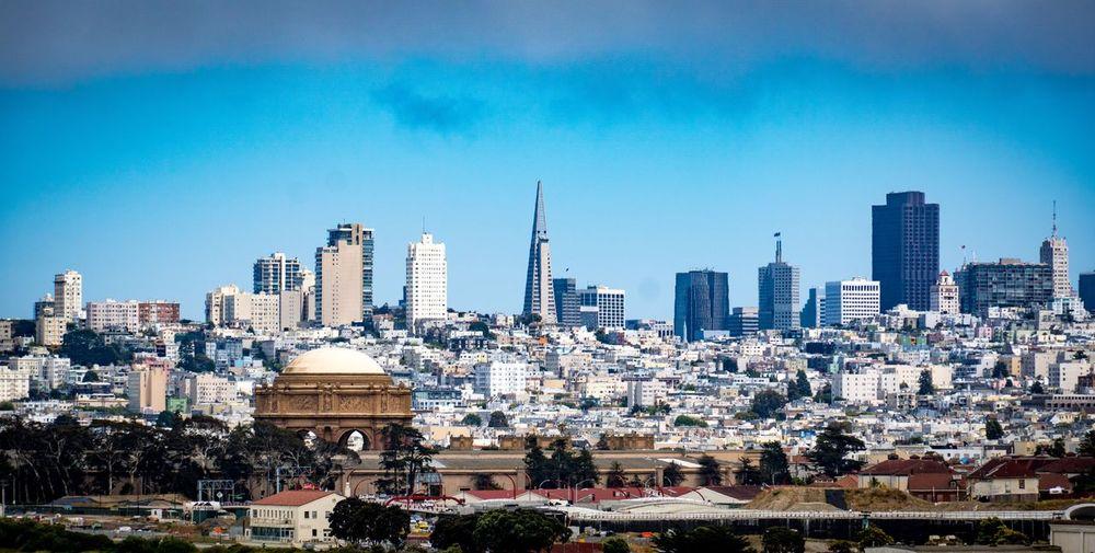 Downtown San Francisco Urban Skyline Outdoors Sky Day City Cityscape Skyscraper Architecture