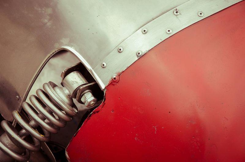 Detail shot of metallic wall