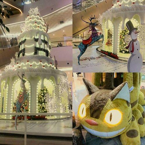 벌써 크리스마스 기차 이쁨 롯데몰 잠실 잠실역 2롯데월드몰 Lotteworldmall 토토로 고양이버스 쌍심지