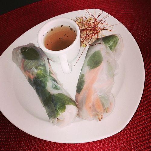 Vietnamesische Sommerrolle... #küchenparty Food Essen Foodporn Vietnamese Instafood Küchenparty Kuechenparty Foodkoma Nemcuon Sommerrolle Vietnamisisch