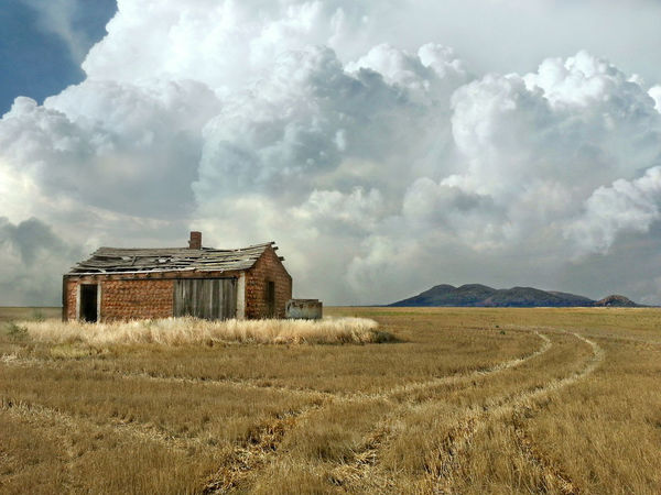 Farm Farmland Abandoned Architecture Beauty In Nature Building Exterior Built Structure Cloud - Sky Day Deserted Field Grass House Landscape Nature No People Outdoors Sky Tranquility