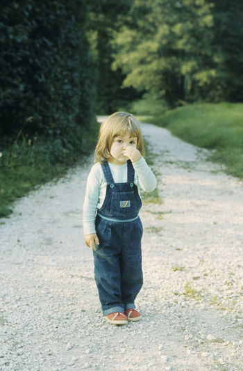 1980's Kid - That's me :-) 1980s 80s Child Blond Hair Casual Clothing Child Childhood Day Front View Full Length Grass Kind Der 80er Nature One Person Outdoors People Real People Road Self Portrait Standing That's Me The Way Forward Tree Walking Love Yourself