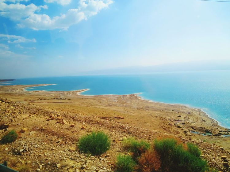 The Dead Sea Great Outdoors With Adobe Dead Sea  Beauty In Nature Nature Tranquil Scene Scenics Tranquility Sky Outdoors Day Sea Water Horizon Over Water No People Landscape