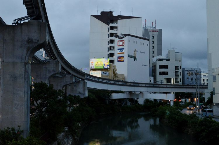 Naha-shi Okinawa Japan City Cityscapes Monorail  Railroad Track Japanese Architecture Evening Canals And Waterways Discoverjapan Ultimate Japan