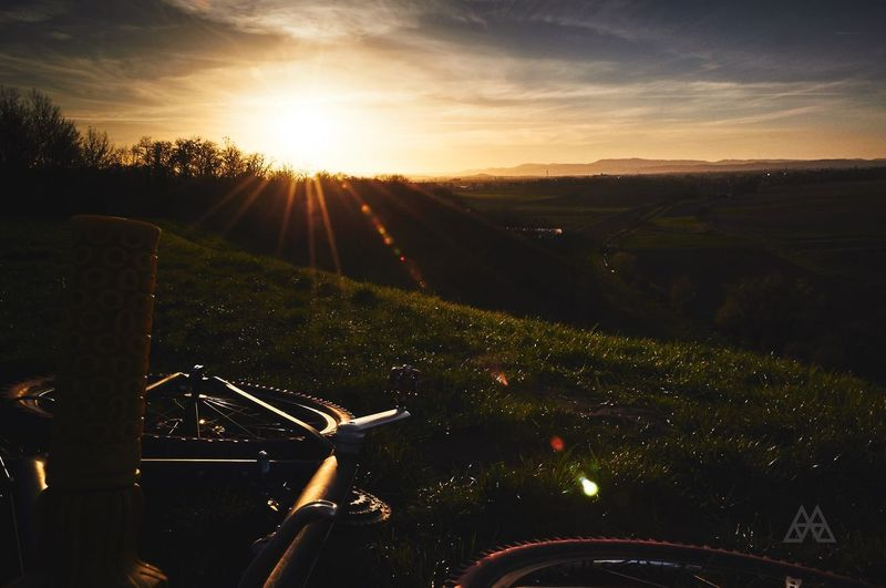 A ride to remember.. Sunset on the Alsatian Fields facing the Mountains and Enjoying The View . Mundolsheim France Sunset View Landscape Hidden Gems  Bike Cannondale Cannondalebikes Nikon Believe Sun Skyporn Wondercreewoman 43 Golden Moments Memory EyeEm Best Shots Celebrate Your Ride The Great Outdoors - 2016 EyeEm Awards CyclingUnites